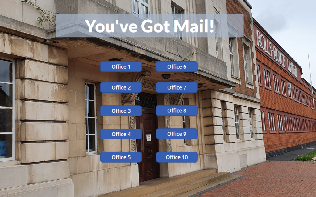 """My completed """"You've Got Mail"""" app"""