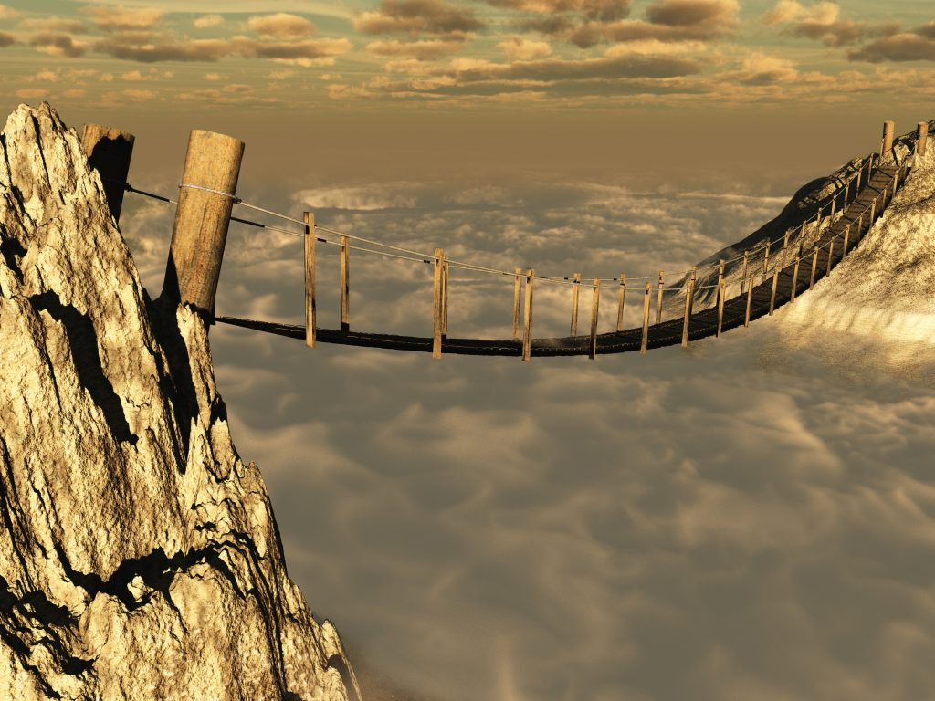 Building Digital Skills can seem like crossing a bridge over a chasm