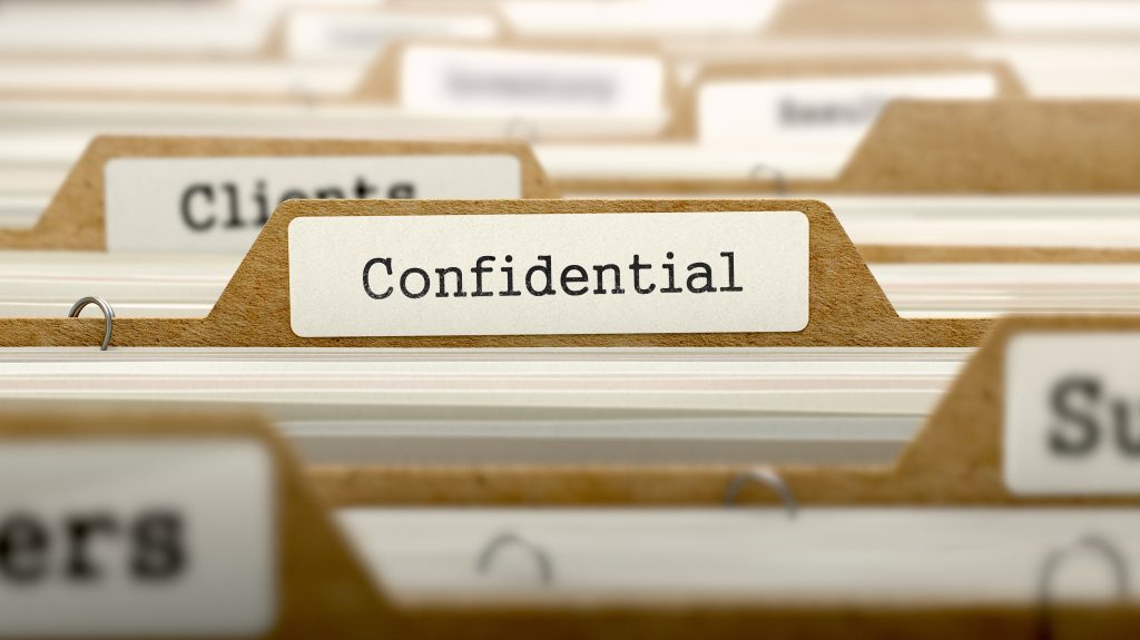 Controlling documents to ensure confidential information is kept secure