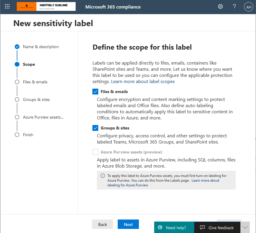 Sensitivity Labels - Now available for Sharepoint