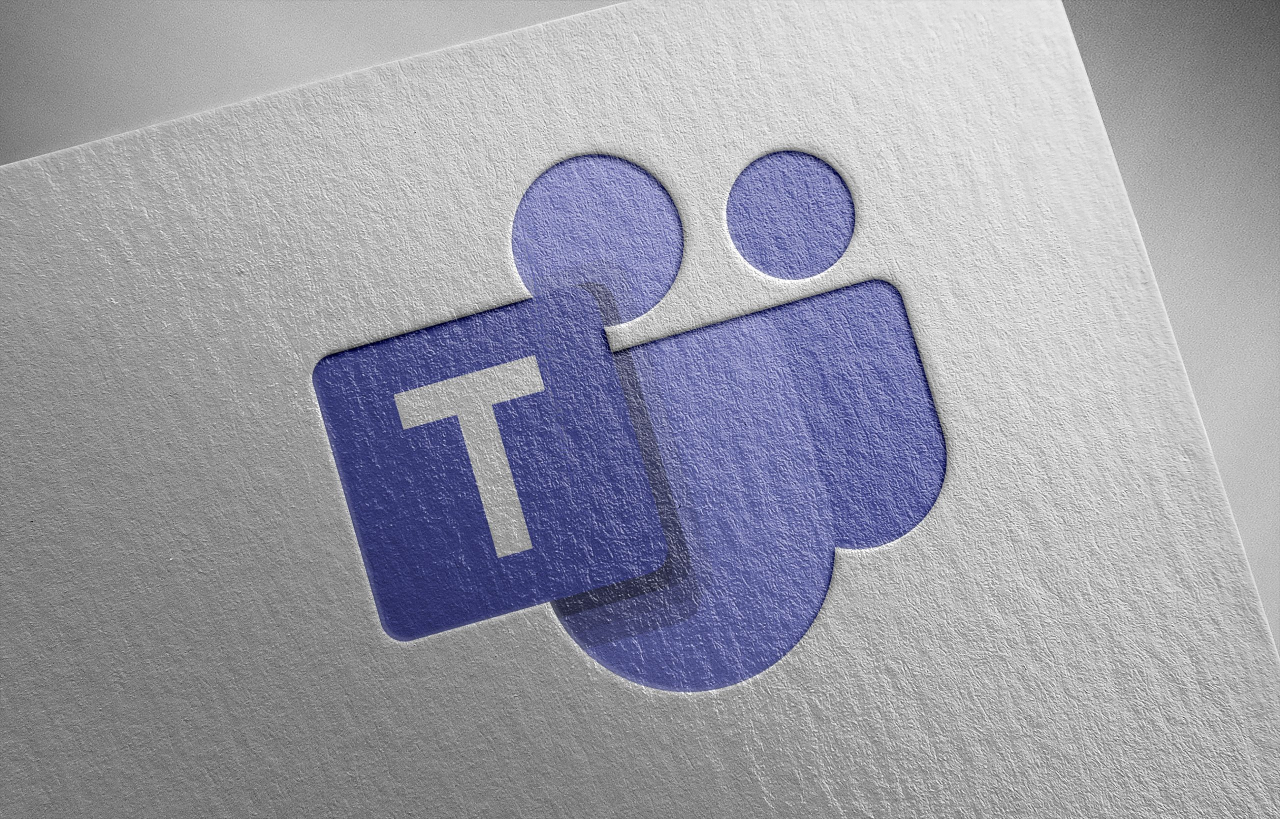 Microsoft Teams Icon on paper